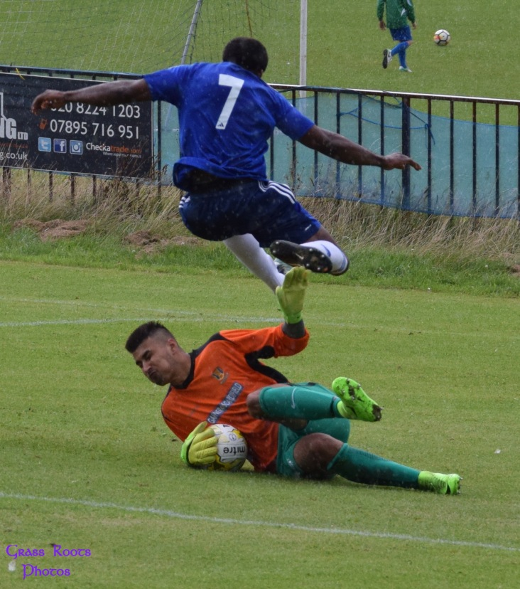 Lancing's keeper out to deny Peters