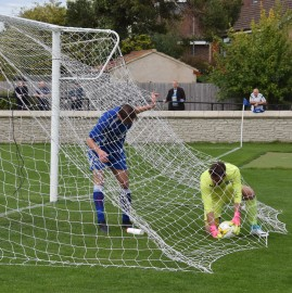 Then kindly helps the 'keeper recover the ball