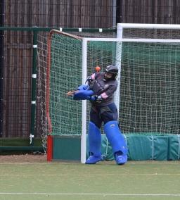 Lindsay Brown gets a shoulder to a shot