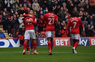 ...and celebrates with Jake Forster-Caskey.