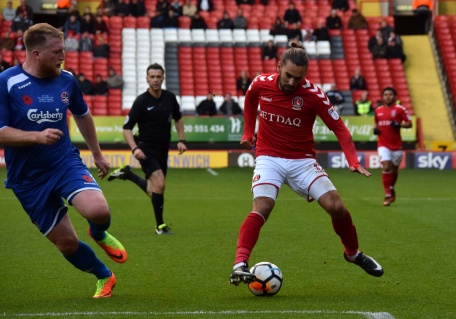 Ricky Holmes turns on the ball