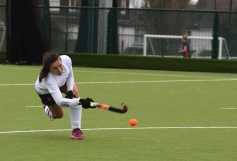 ...Harriet Caruana winds up the drag flick...