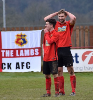 ...and Robins also gets sent off.