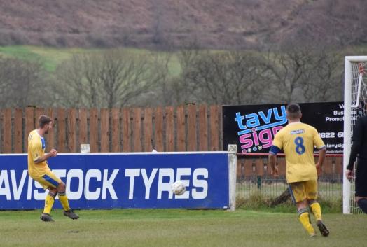 Luke Durham scores the equaliser...