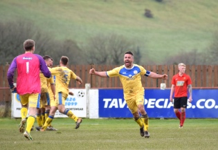 Shane Krac is well pleased with the equaliser