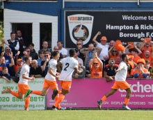 ...before Reece Grant rushes off in celebration...