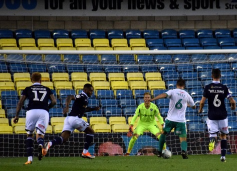 Jamie Ness gets into the box...
