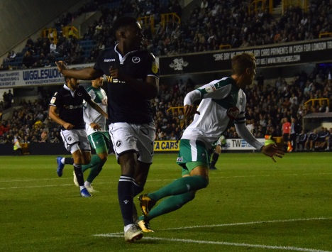 Fred Onyedinma can't get his flick on target