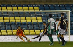 Shaun Williams dispatches the penalty...
