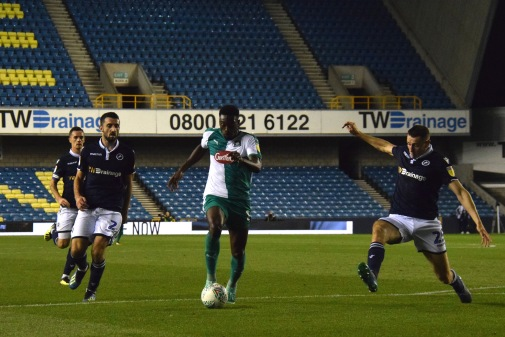 Freddie Ladapo rounds Murray Wallace...