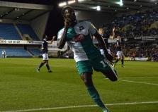Freddie Ladapo celebrates his goal