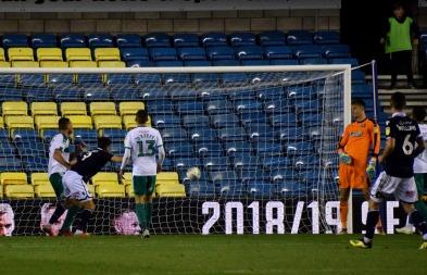 Lee Gregory nods into an empty net