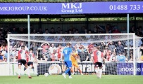 Max Kretzschmar strikes the penalty...