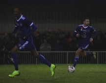 Josh Webb pulls an absolute hero face as Hippolyte looks for space