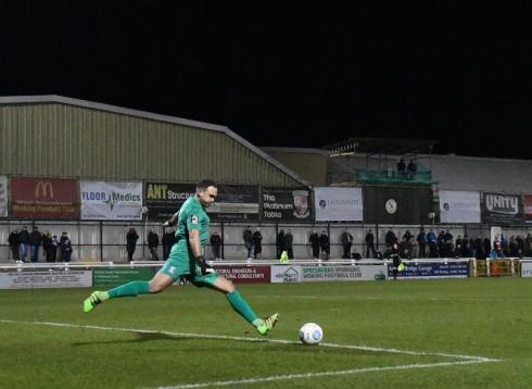 Craig Ross takes a goal kick