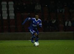 Craig Braham-Barrett advances in possession