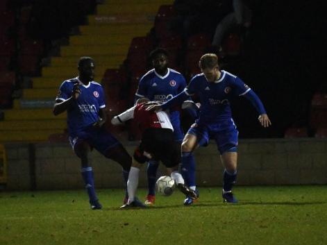Paul Hodges on the ball