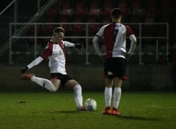 Armani Little hits the free kick