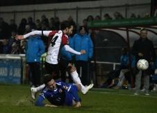 Nicky Wheeler tackled by McNamara