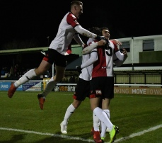 Woking players celebrate