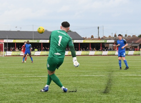Lewis Carey clears his lines