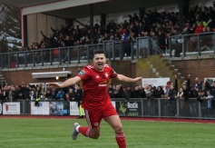 Ollie Pearce celebrates