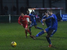 Jack Mazzone scores the penalty