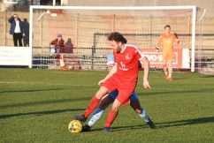 Mark Bitmead shields the ball