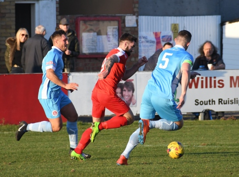 Ryan Moss attacks goal