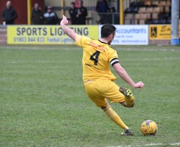 Jamie Price hits a long ball