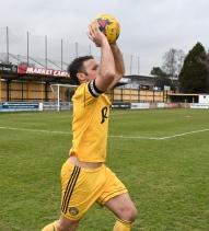 Jamie Price takes a throw