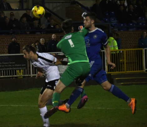 Blackmore gets a header and a whack