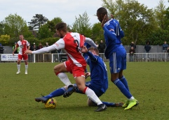 Luke Robertson tackles Jack Dickson