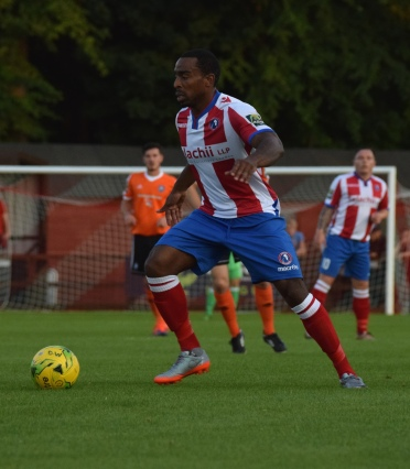 Jerome Beckles is a long serving Dorking midfielder