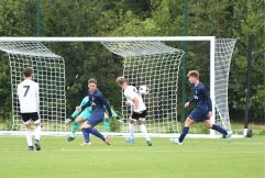 Jay Stansfield goes for goal