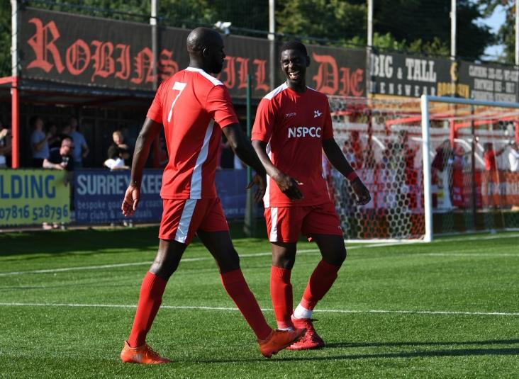 Michael Kamara acknowledges the assist