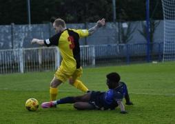 Kai Hamilton makes the tackle