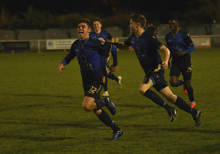 Ollie Knight leads the celebrations