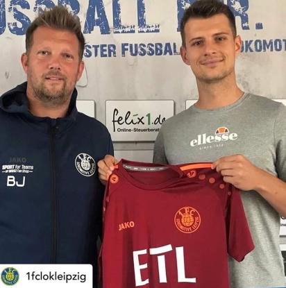 Signing for Lokomotive Leipzig