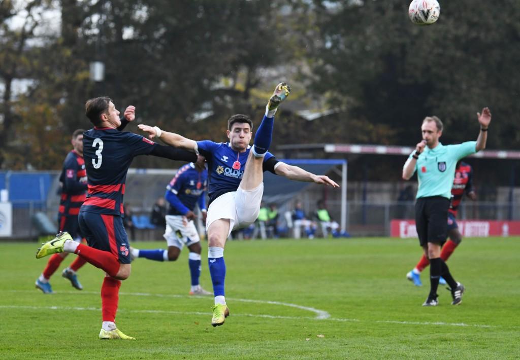 Ben Garrity hooks clear athletically